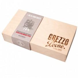 GREZZO LEONE, CHOCOLATE BLOCK IN WOODEN BOX