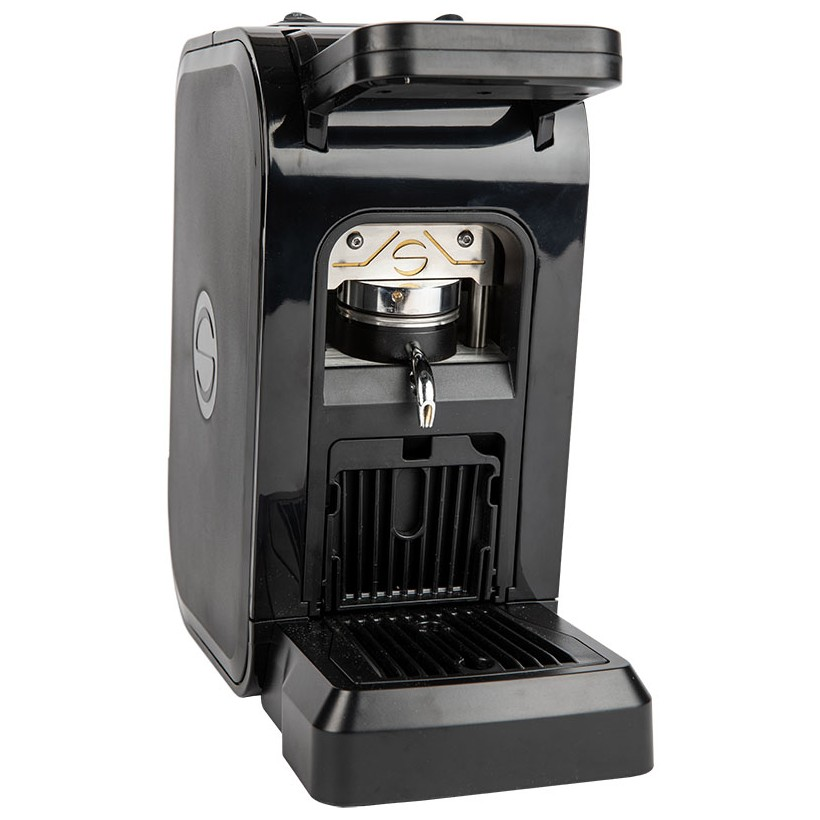 Coffee machine in paper pods ese 44mm Spinel CIAO black