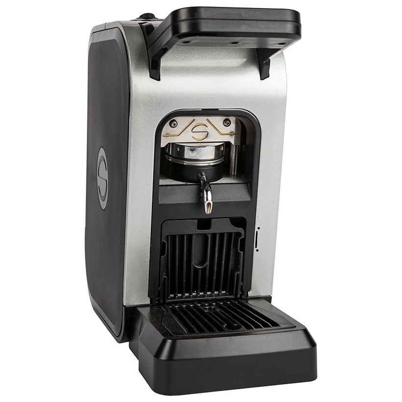 Coffee machine in paper pods ese 44mm Spinel CIAO gray metallic