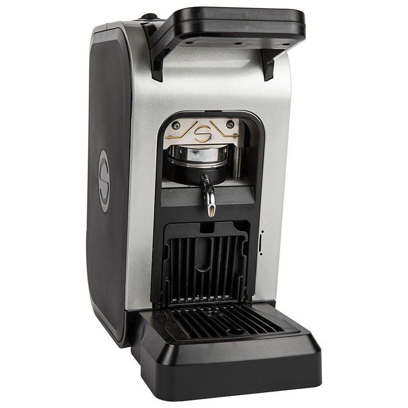 Machine à café en dosettes papier ese 44mm Spinel CIAO gris métallique